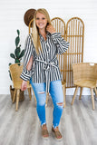 Long Sleeve Striped Tunic Top | Stylish & Affordable | UOI Online