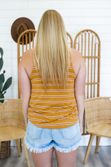 Round Neck Striped Tank | Stylish & Affordable | UOI Online