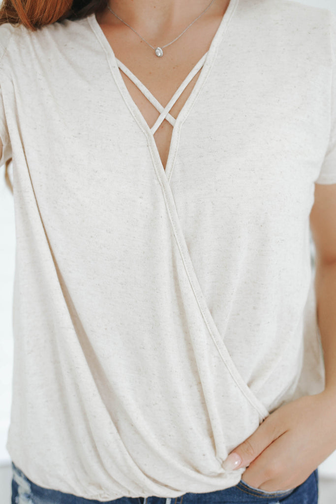 Faux Wrap Top - Online Clothing Boutique