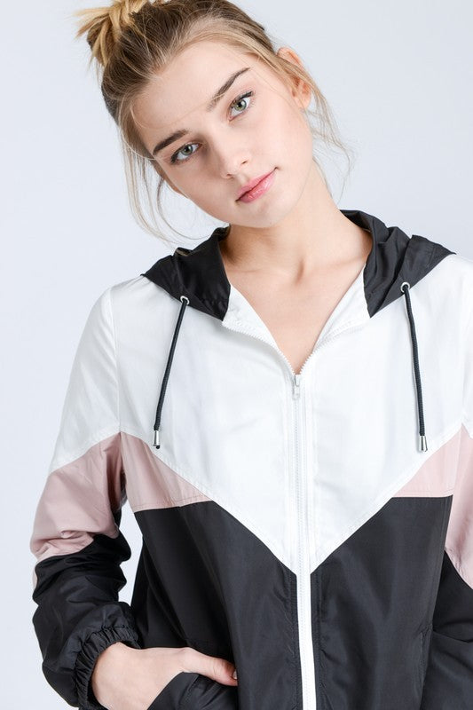 Colorblock Windbreaker - Online Clothing Boutique