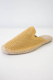 Faux Suede Perforated Mules - Online Clothing Boutique