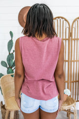 Round Neck Distressed Muscle Tank | Stylish & Affordable | UOI Online