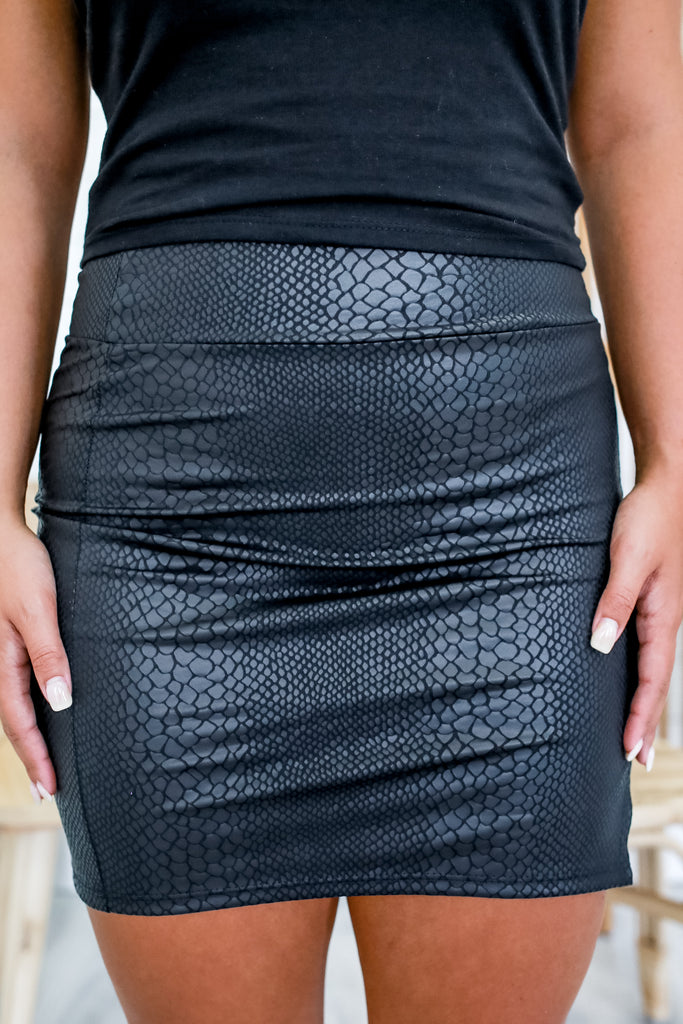 High Rise Snakeskin Mini Skirt | Stylish & Affordable | UOI Online
