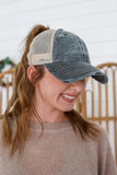 Distressed Ponytail Baseball Cap | Stylish & Affordable | UOI Online