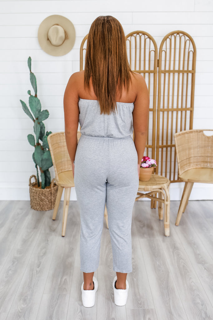 Out & About Jumpsuit - Heather Grey