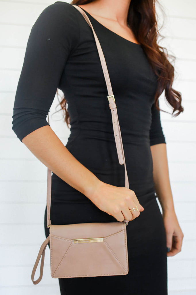 Neutral Crossbody Bag - Online Clothing Boutique