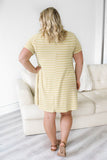 Plus Sized Striped T-Shirt Dress - Online Clothing Boutique