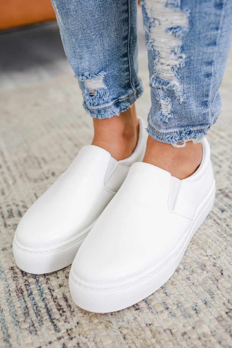 Faux Leather Slip On Sneakers | Stylish & Affordable | UOI Online