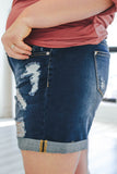 Plus Size Distressed Denim Shorts - Online Clothing Boutique