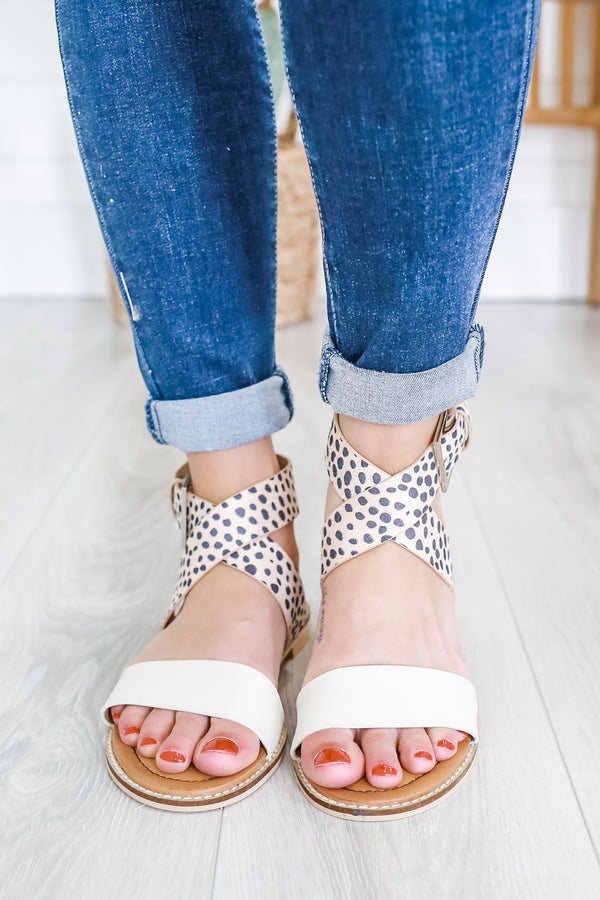 Cheetah Print Strappy Sandals | Stylish & Affordable | UOI Online