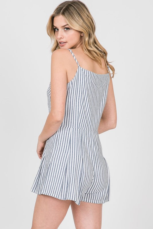 Striped Romper - Online Clothing Boutique