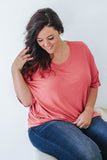 Plus Size Basic Short Sleeve Top - Online Clothing Boutique
