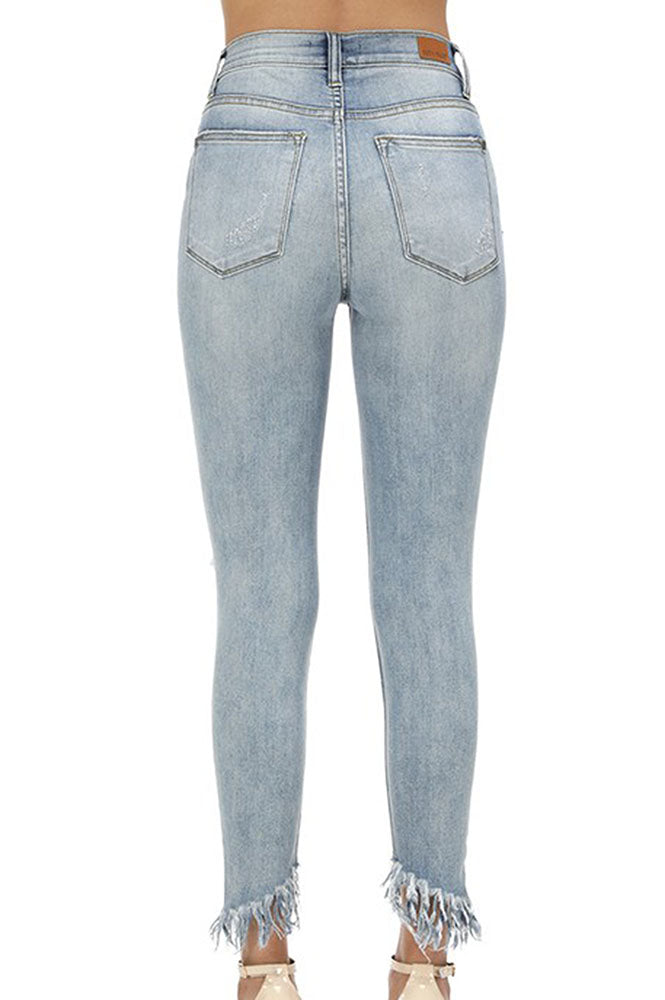 High Rise Distressed Denim - Online Clothing Boutique