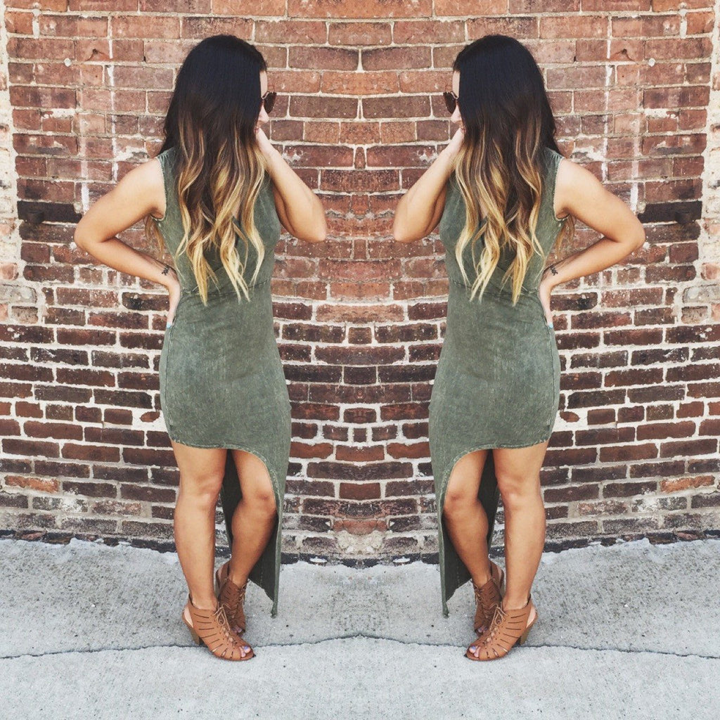 So Much Drama Maxi Dress - Forest Green