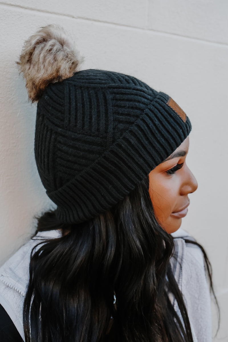 Geometric Knit CC Beanie | Stylish & Affordable | UOI Online