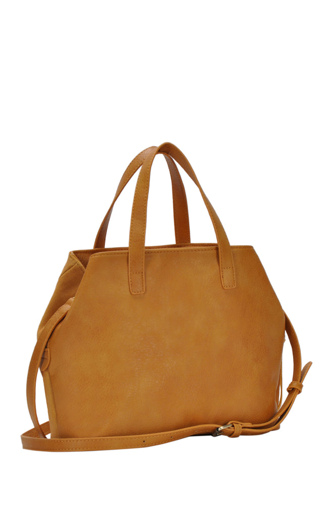 Faux Leather Genuine Suede Bag - Online Clothing Boutique