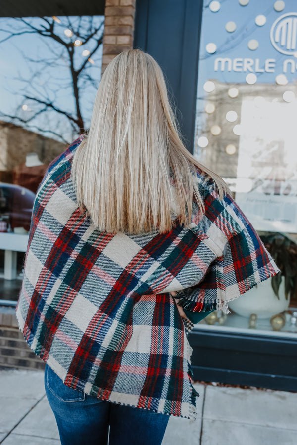 Tartan Plaid Poncho | Stylish & Affordable | UOI Online