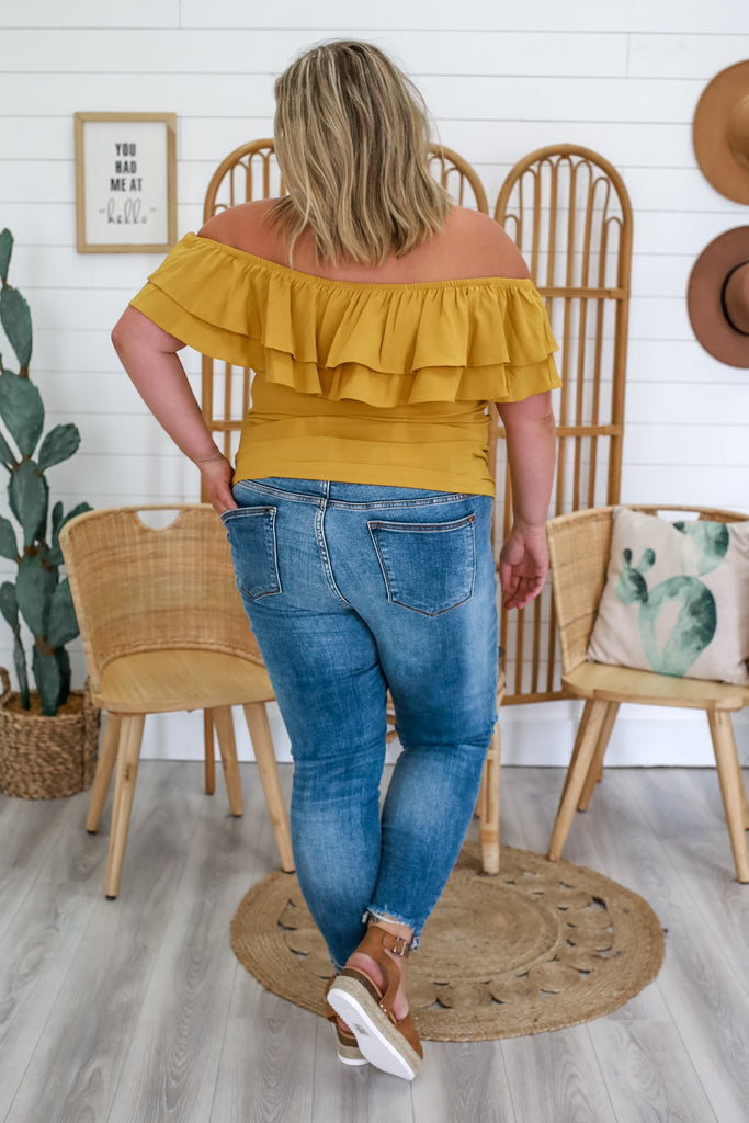Off The Shoulder Plus Size Top | Stylish & Affordable | UOI Online