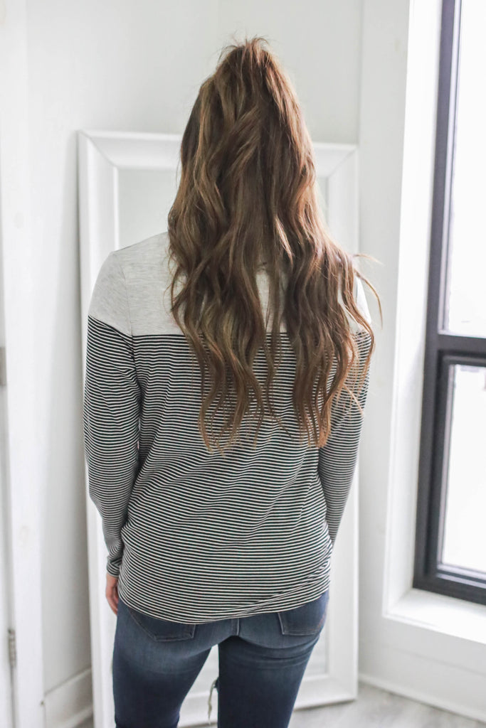 Long Sleeve Striped Top - Online Clothing Boutique