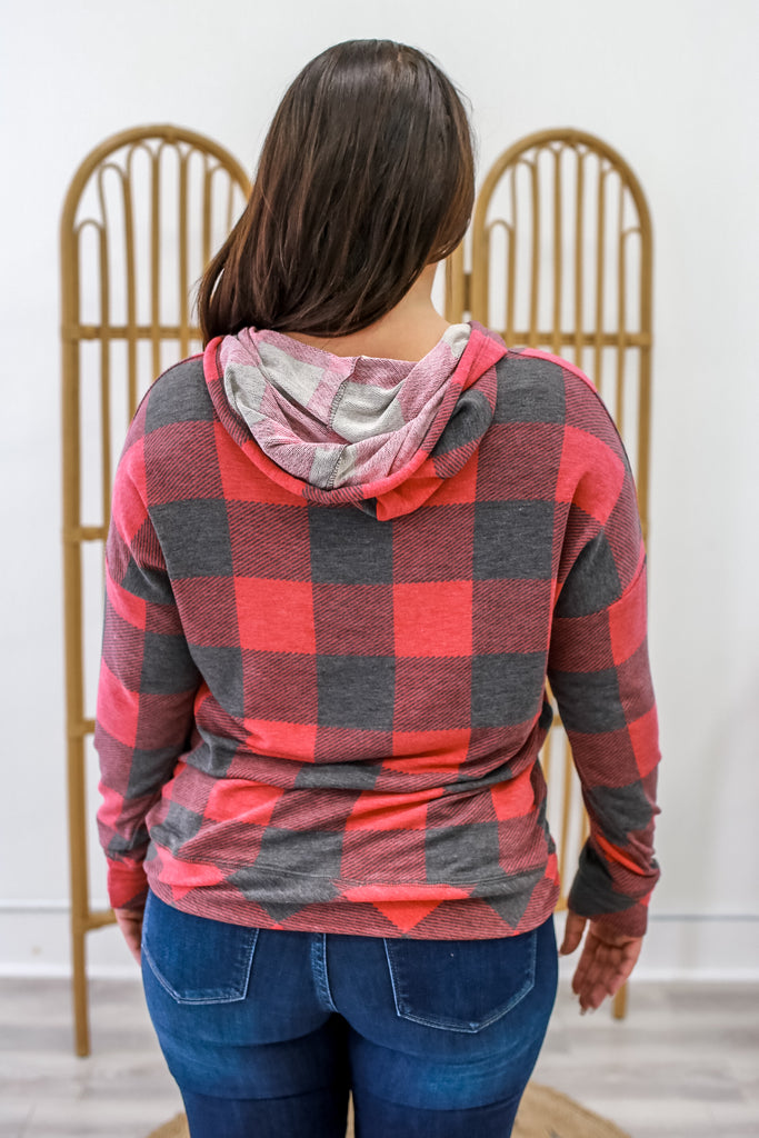 Plaid Sweatshirt | Stylish & Affordable | UOI Online