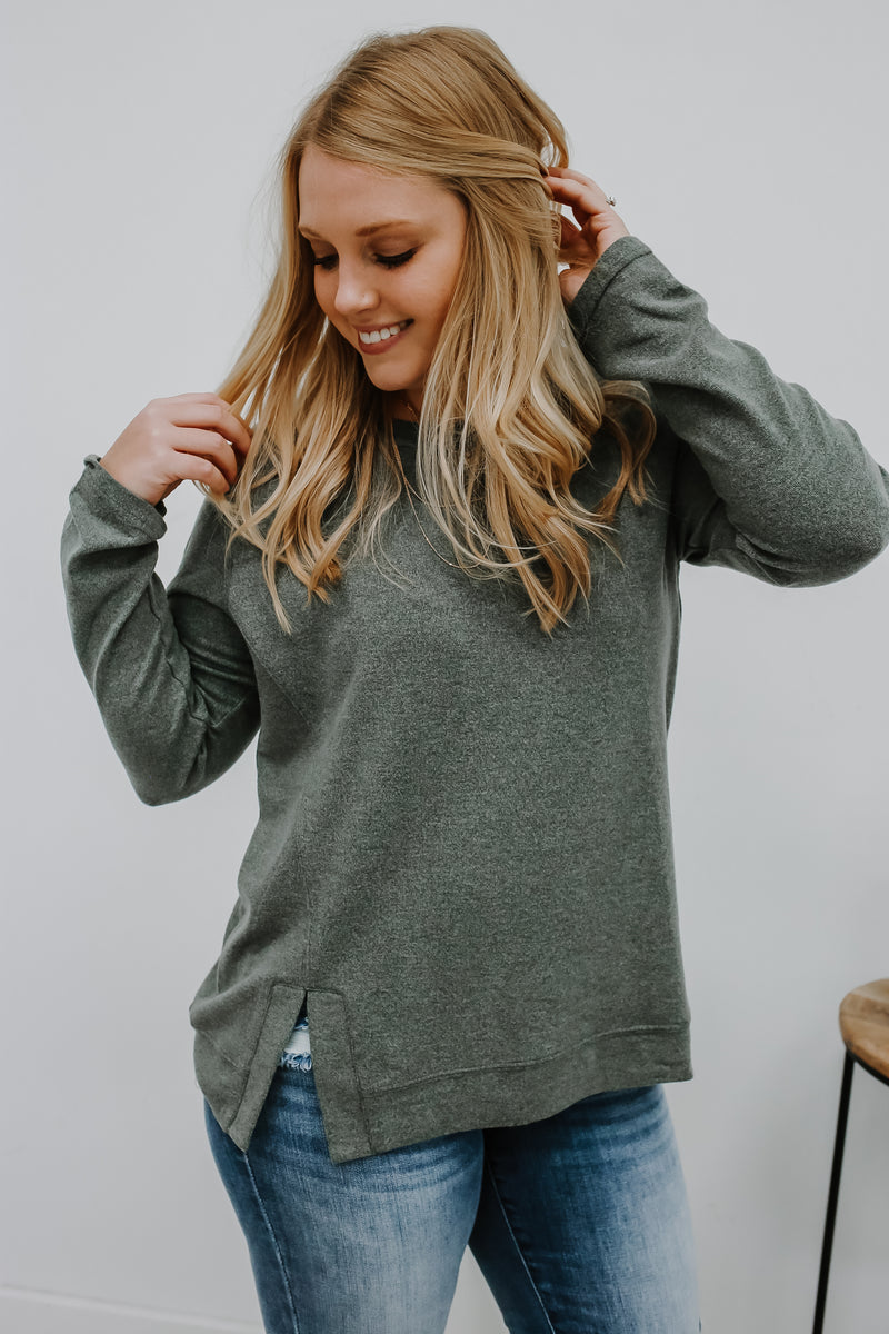 Long Sleeve Hacci Knit Top | Stylish & Affordable | UOI Online