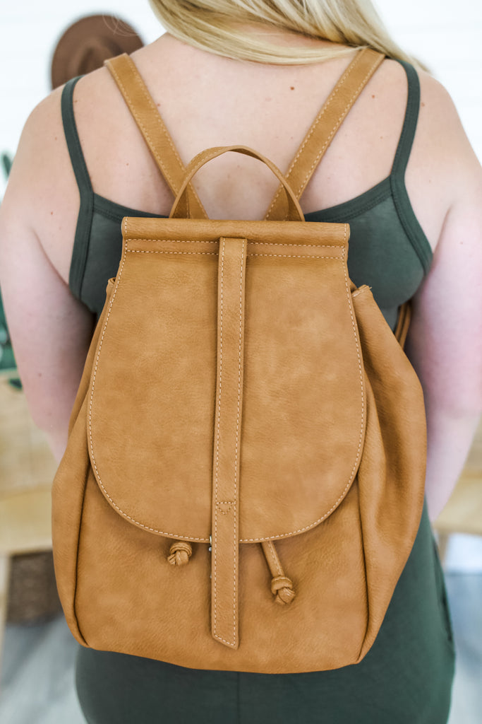 Faux Leather Fold Over Backpack | Stylish & Affordable | UOI Online