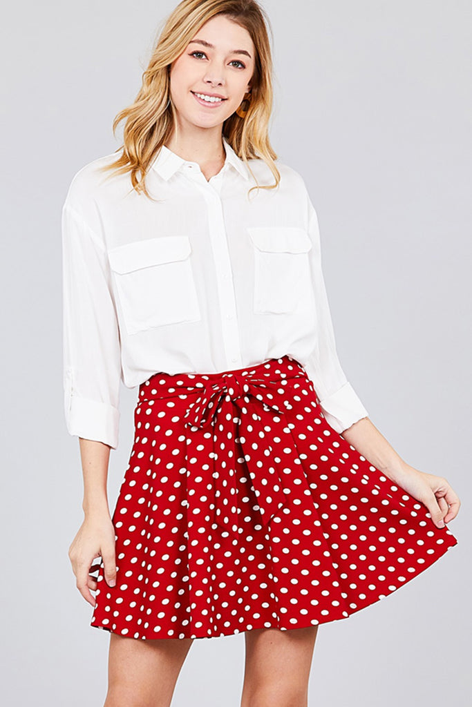 Polka Dot Mini Skirt | Stylish & Affordable | UOI Online