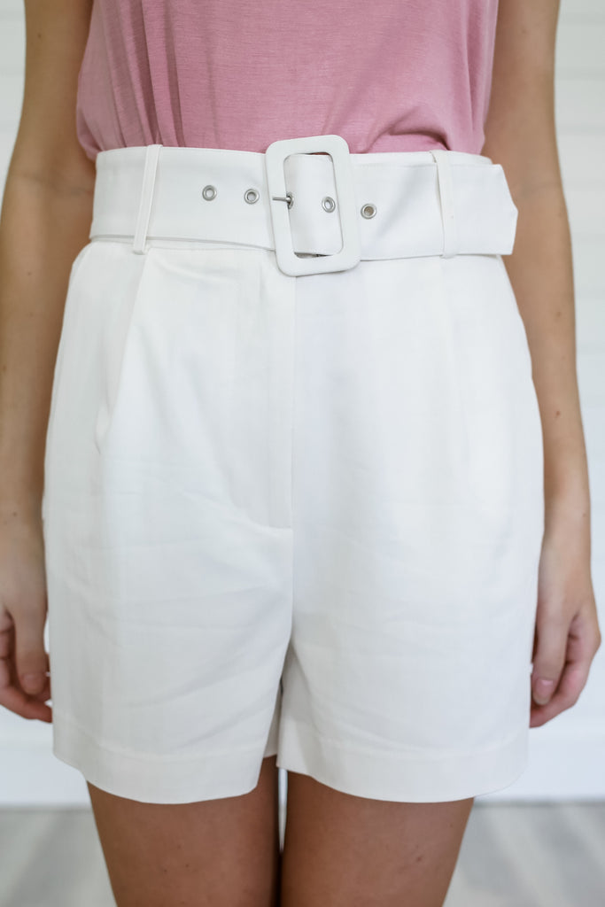 Fully Lined High Rise Belted Shorts | Stylish & Affordable | UOI Online