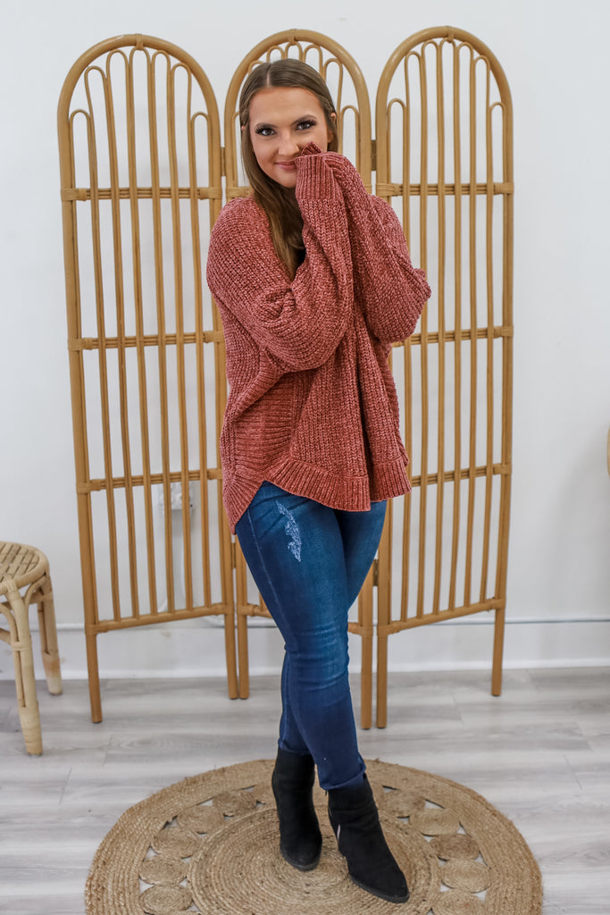 Hooded Chenille Sweater | Stylish & Affordable | UOI Online