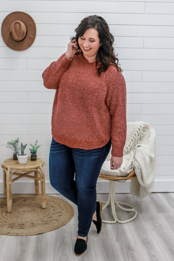 Plus Size Chenille Sweater | Stylish & Affordable | UOI Online