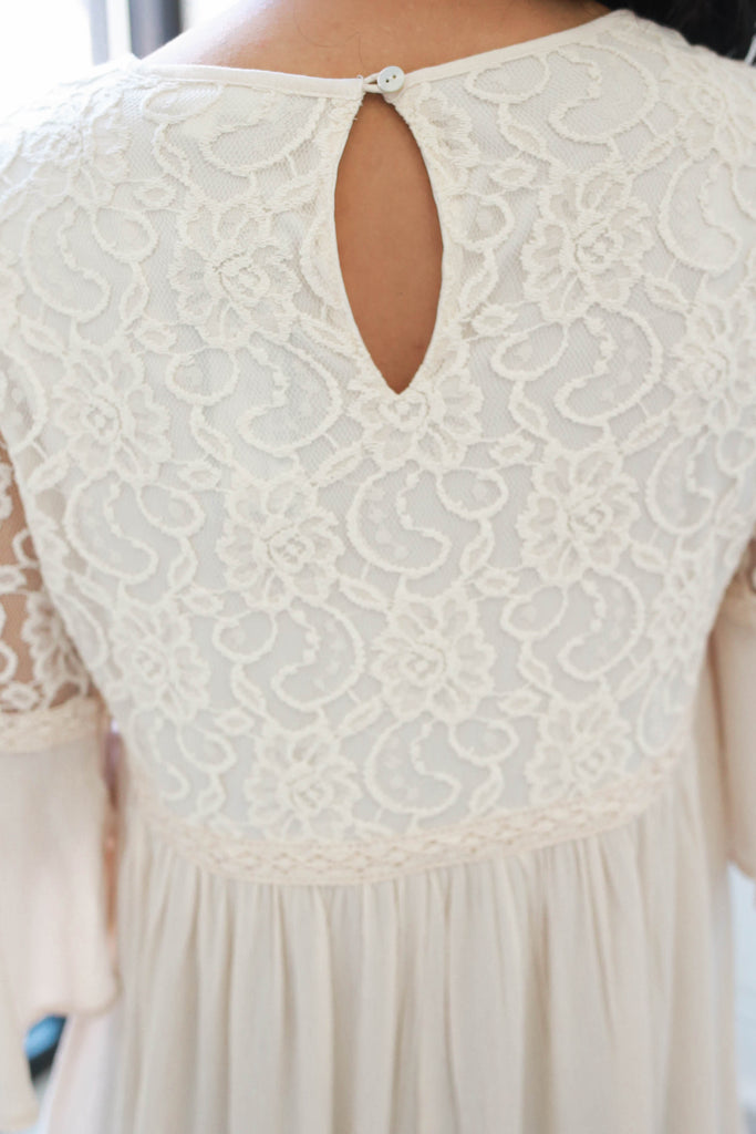 Bell Sleeve Lace Top - Online Clothing Boutique