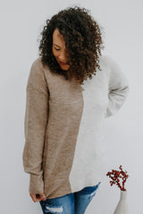 V-Neck Color Block Knit Sweater | Stylish & Affordable | UOI Online