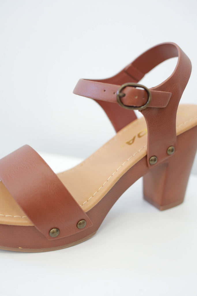 Faux Leather Wide Fit Heels - Online Clothing Boutique
