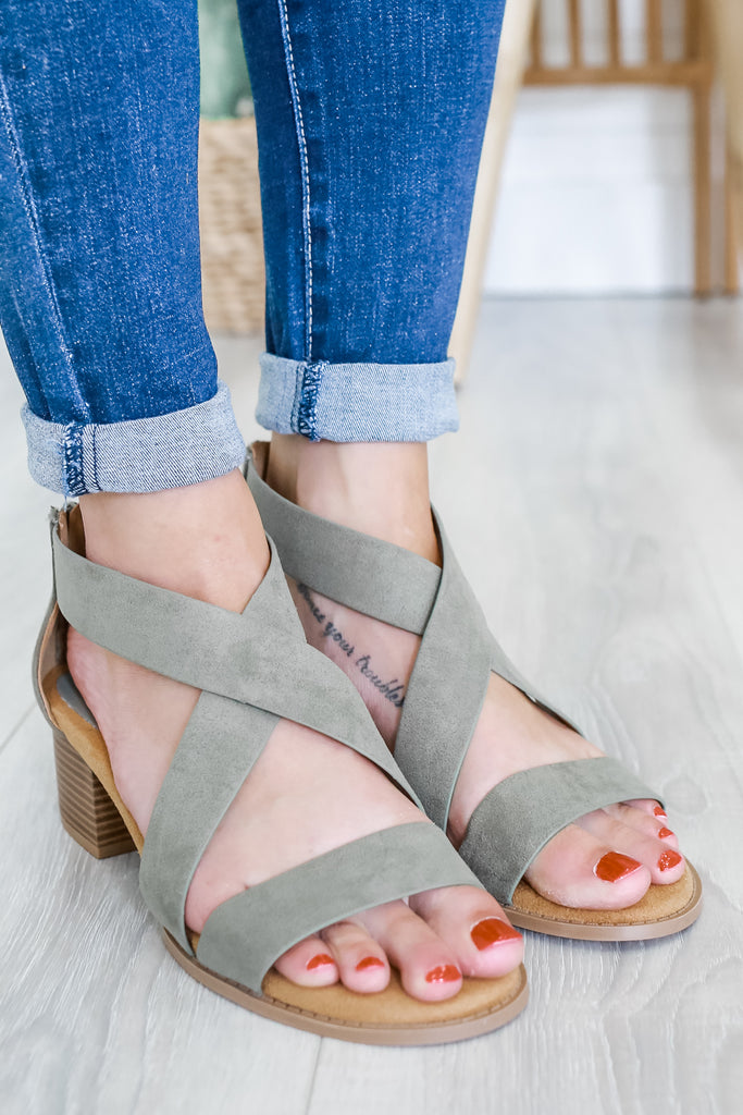 Open Toe Criss Cross Heels | Stylish & Affordable | UOI Online