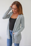 Remember Me Cardigan - Dusty Blue