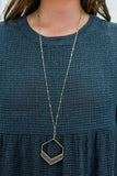 Rise Above It Necklace - Hematite