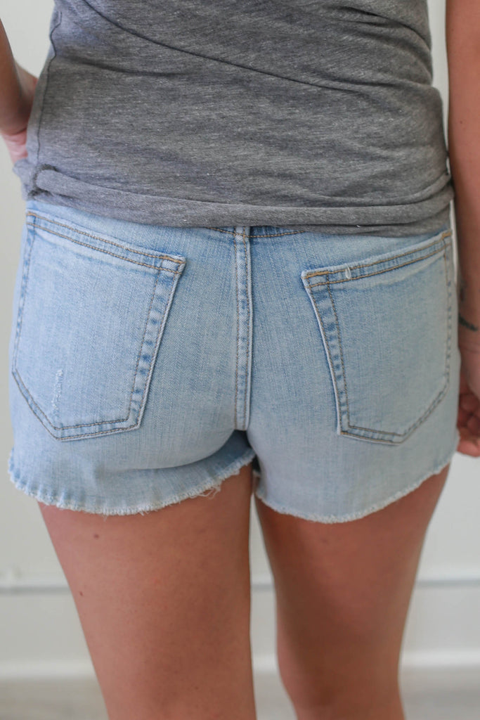 Mid-Rise Denim Shorts - Online Clothing Boutique