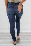 Mid Rise Minimal Distressed Denim - Online Clothing Boutique