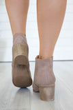 Topanga-01 Faux Suede Ankle Booties - Online Clothing Boutique