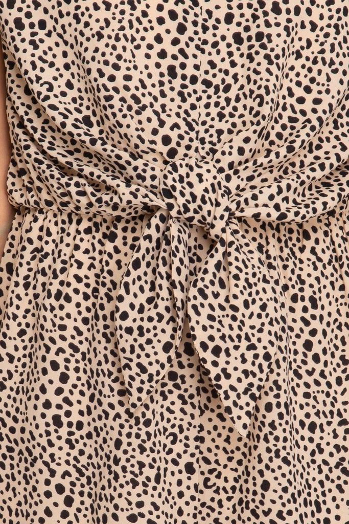 Animal Print Romper - Online Clothing Boutique