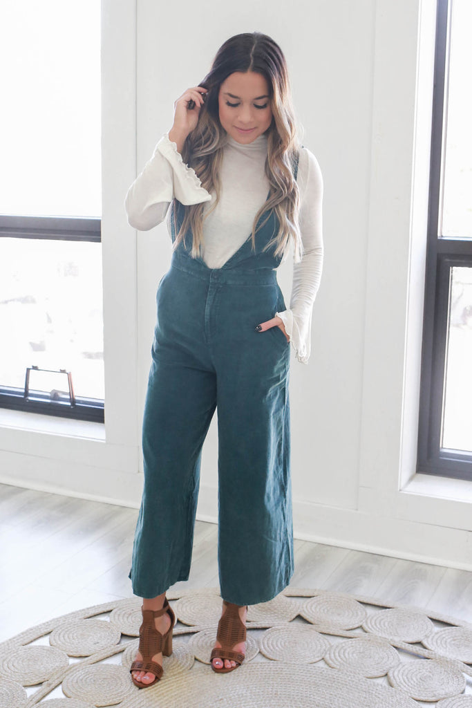 Corduroy Overall Jumpsuit - Online Clothing Boutique