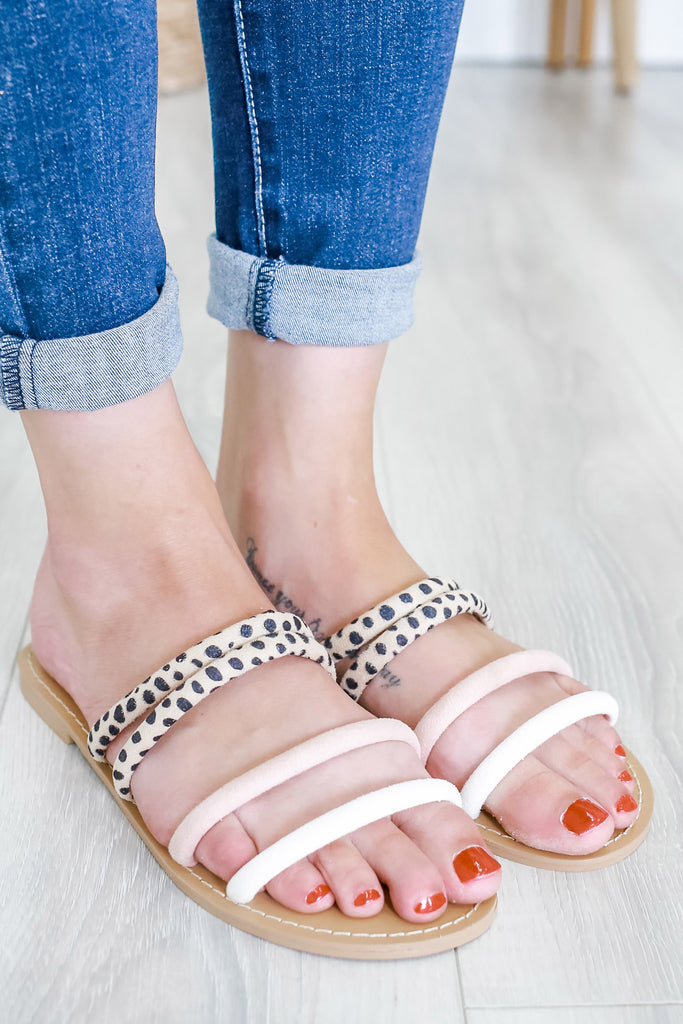 Faux Suede Strappy Sandals | Stylish & Affordable | UOI Online