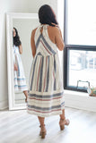 Striped Linen Dress - Online Clothing Boutique
