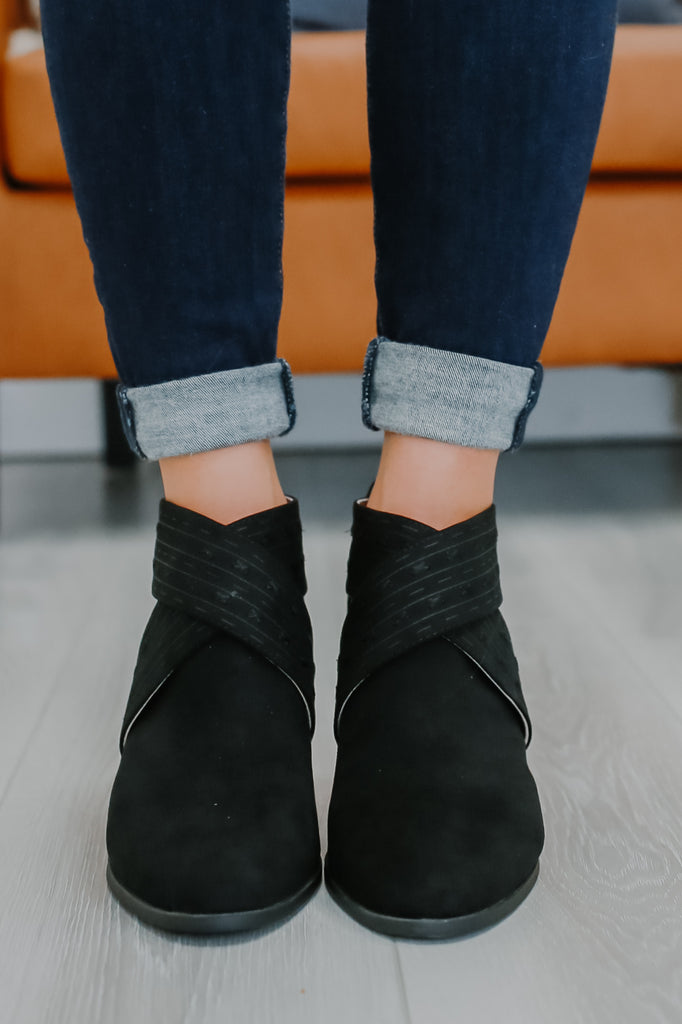 Criss Cross Faux Suede Ankle Booties | Stylish & Affordable | UOI Online
