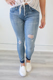 Mid Rise Distressed Denim - Online Clothing Boutique