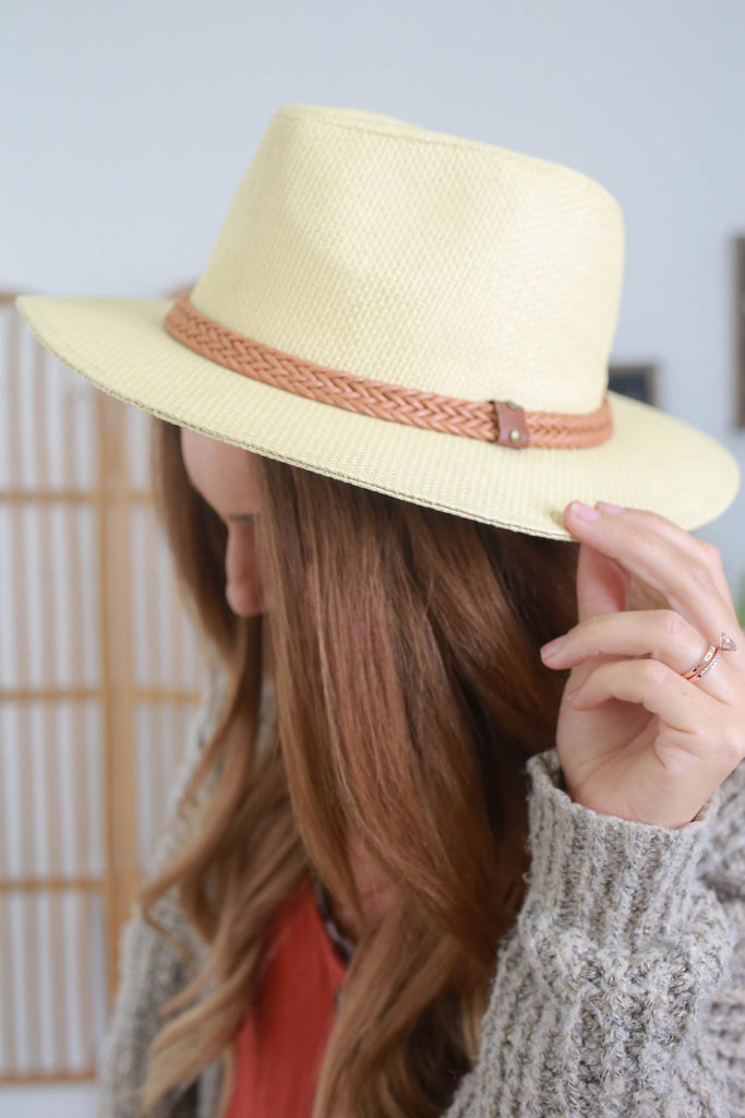 Straw Panama Hat - Online Clothing Boutique