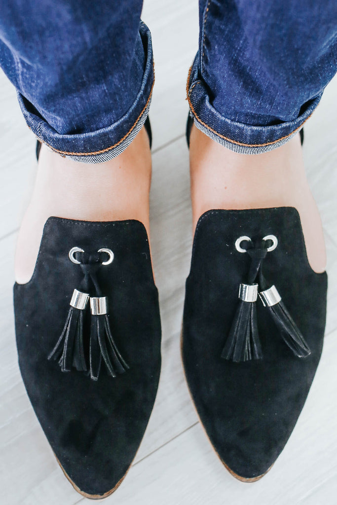 Carter-07 Faux Suede Loafers - Online Clothing Boutique