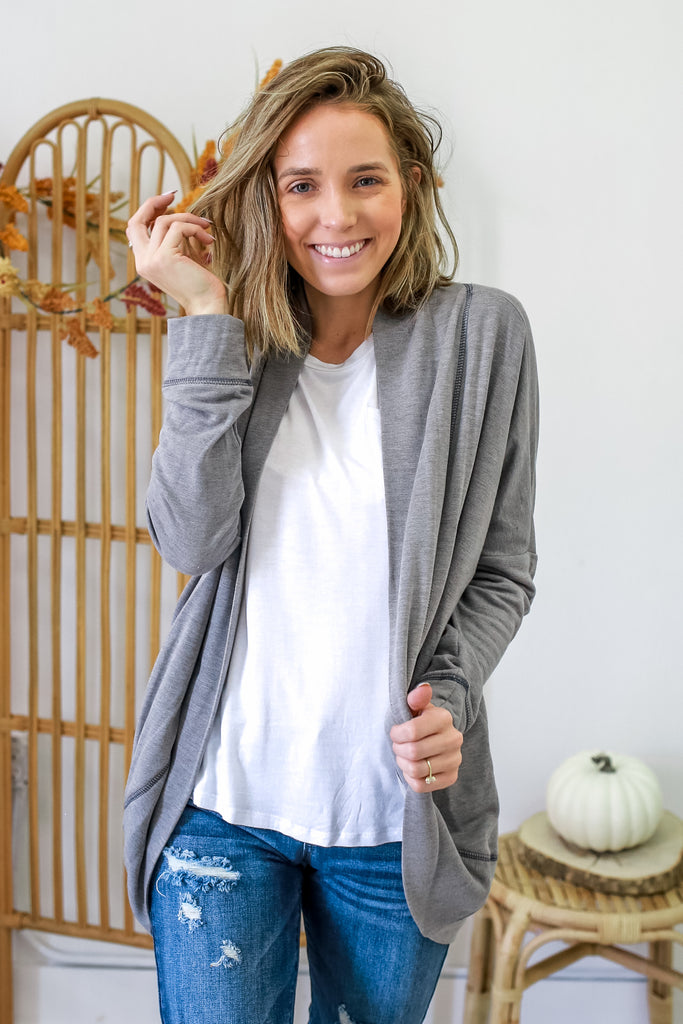 French Terry Cardigan | Stylish & Affordable | UOI Online