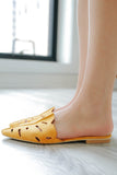 MAISY-01 - Cut Out Slip On Flats - Online Clothing Boutique