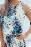 High Neck Floral Print Dress - Online Clothing Boutique